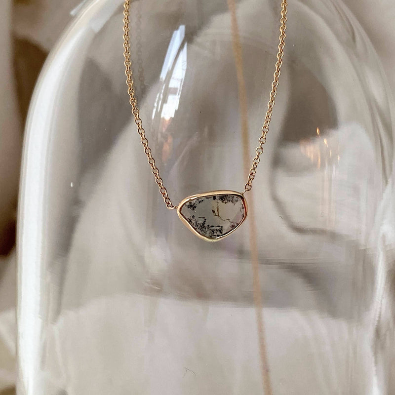 Mountaintop Diamond Slice Necklace