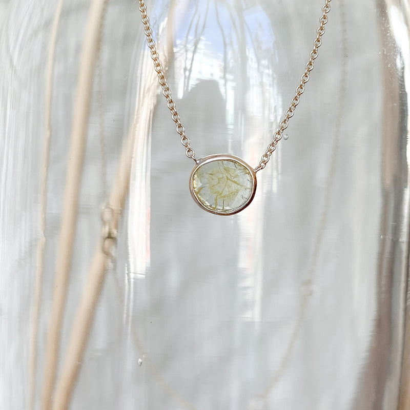 Golden Diamond Slice Necklace