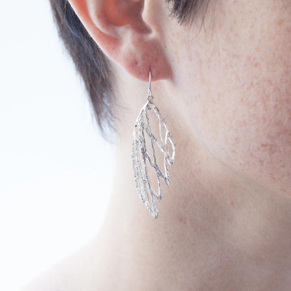 Palm Small Wing French Hook Earring