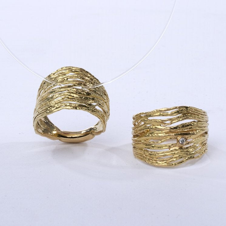 Gold Pinion Ring