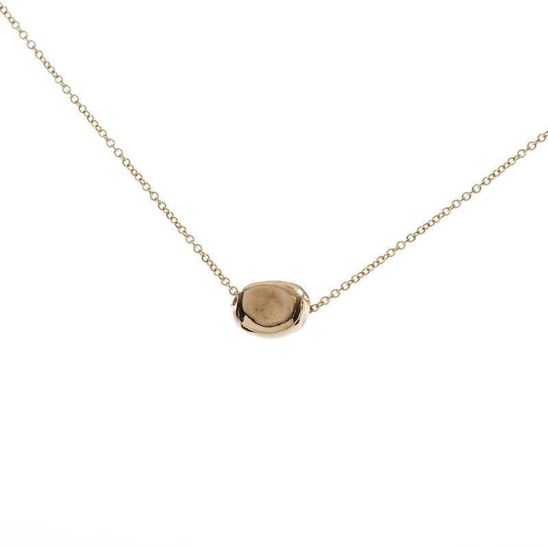 Gold Peony Single Seed Pendant