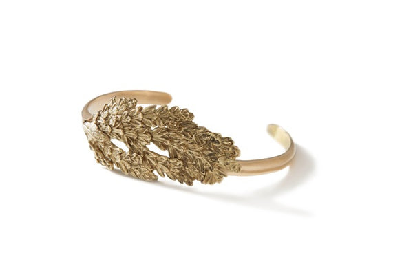 Gold Deerhorn Cedar Single Cuff