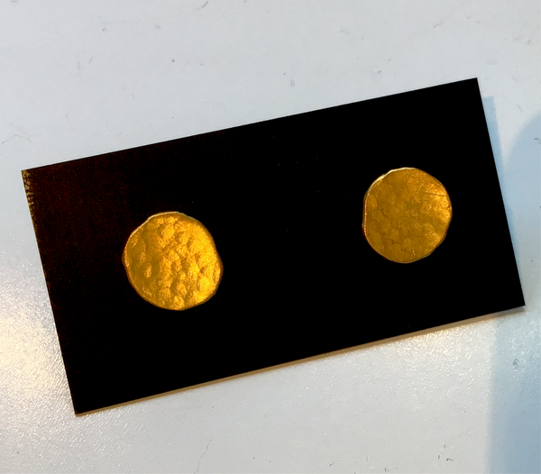 24k Gold Hammered Pool Studs