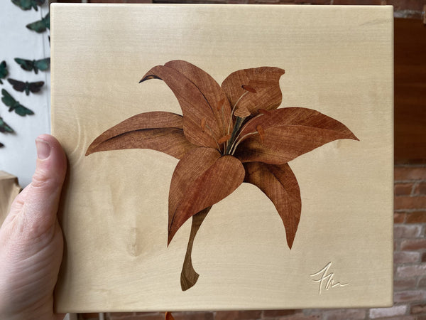 Marquetry: Pink Lily