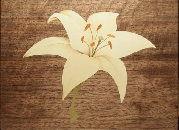 Marquetry: White Lily
