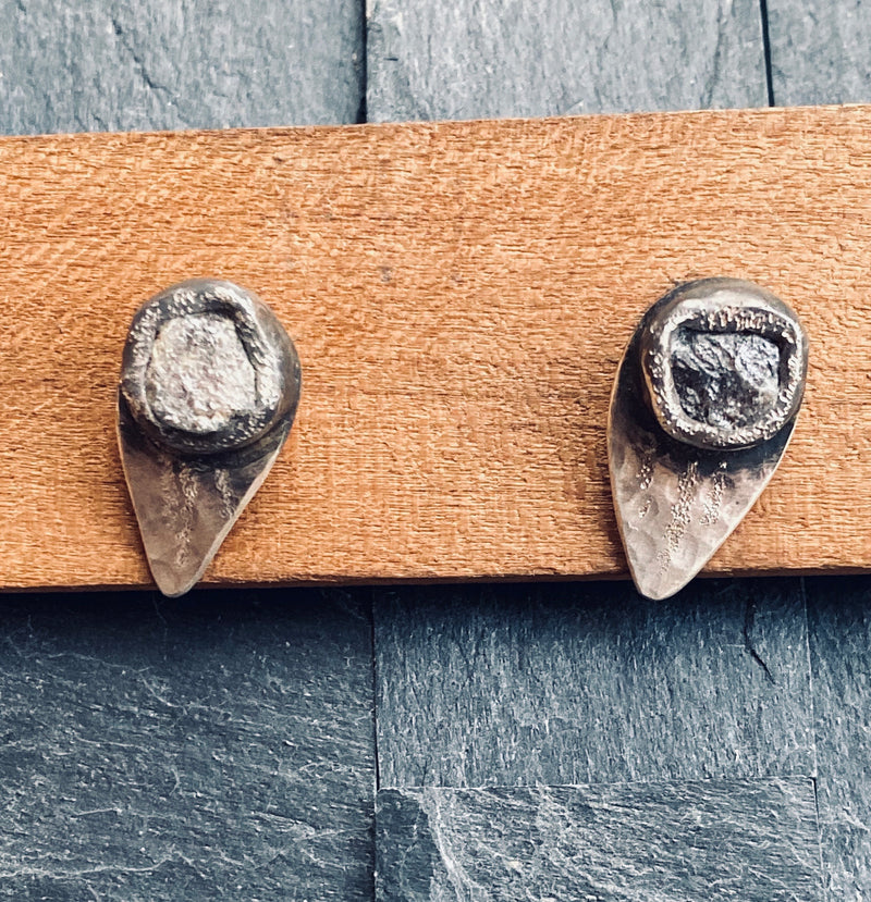 Rough Diamond Guitar Stud Earrings