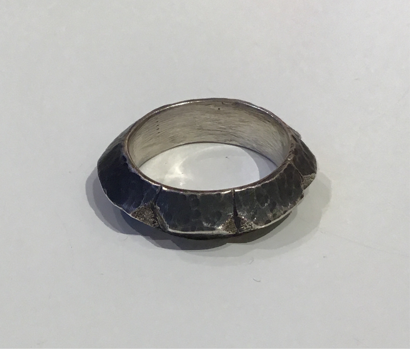 Thick Notched Band, Size 7.75