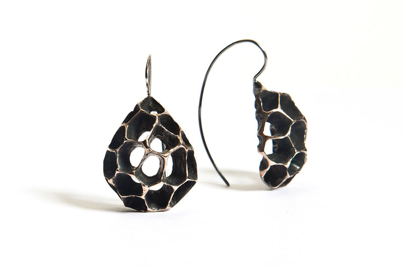 Sweet Gum Teardrop French Hook Earring
