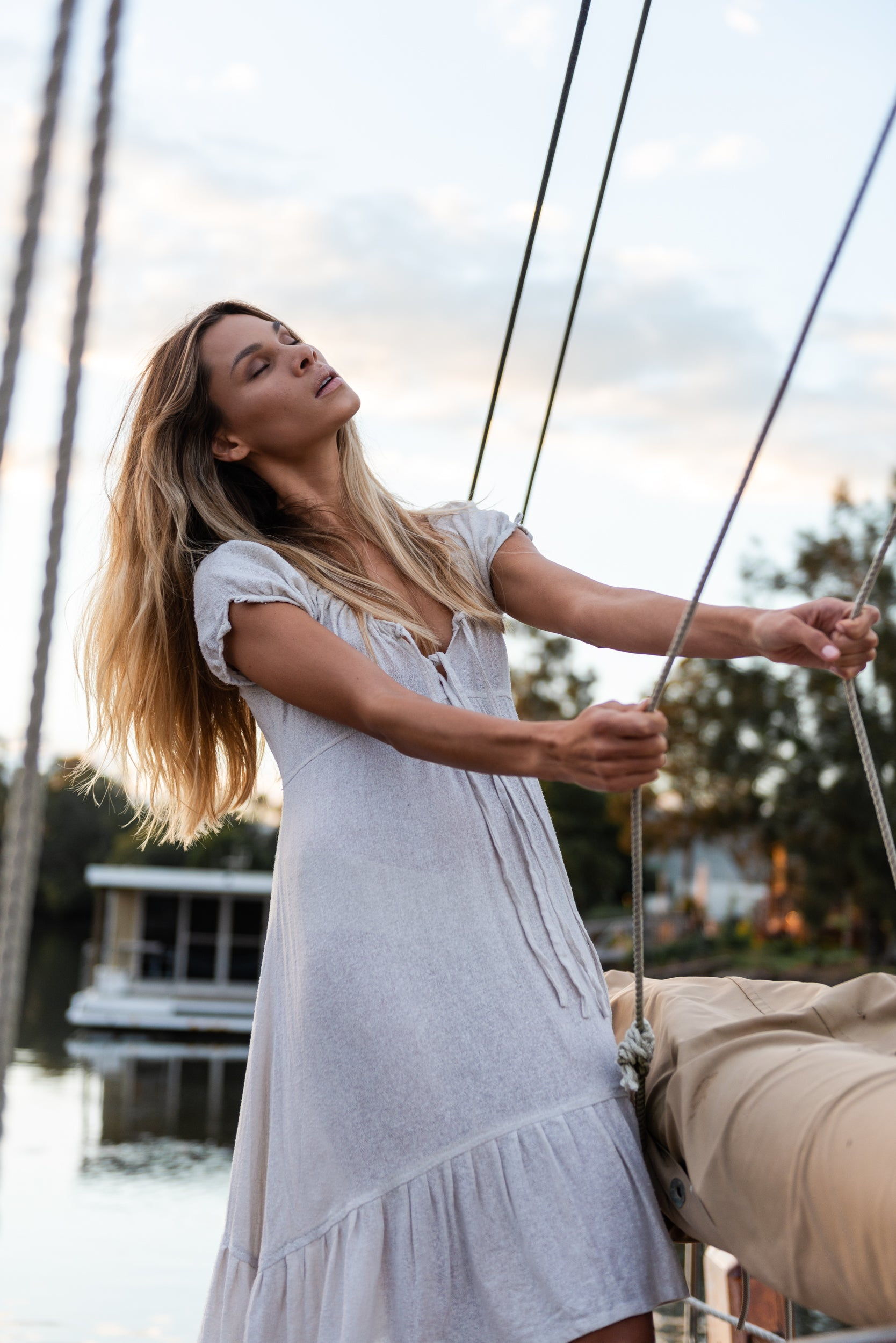 The Silk co. | Belle Dress | Sustainable Raw Silk Clothing - The Silk Co Byron Bay