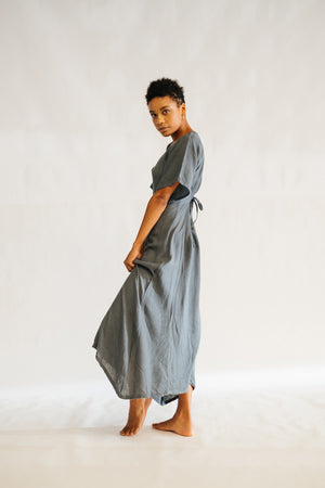 The Silk co. | Esther Dress | Sustainable Raw Silk Clothing - The Silk Co Byron Bay