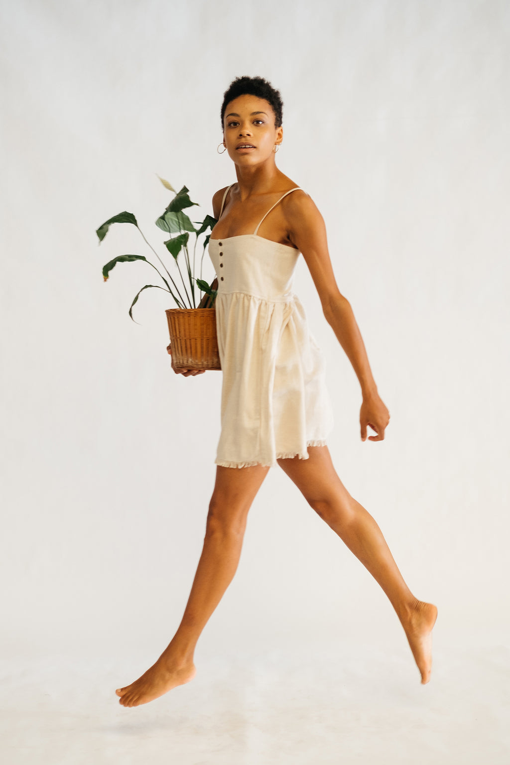 The Silk co. | Grace Mini Dress | Sustainable Raw Silk Clothing - The Silk Co Byron Bay