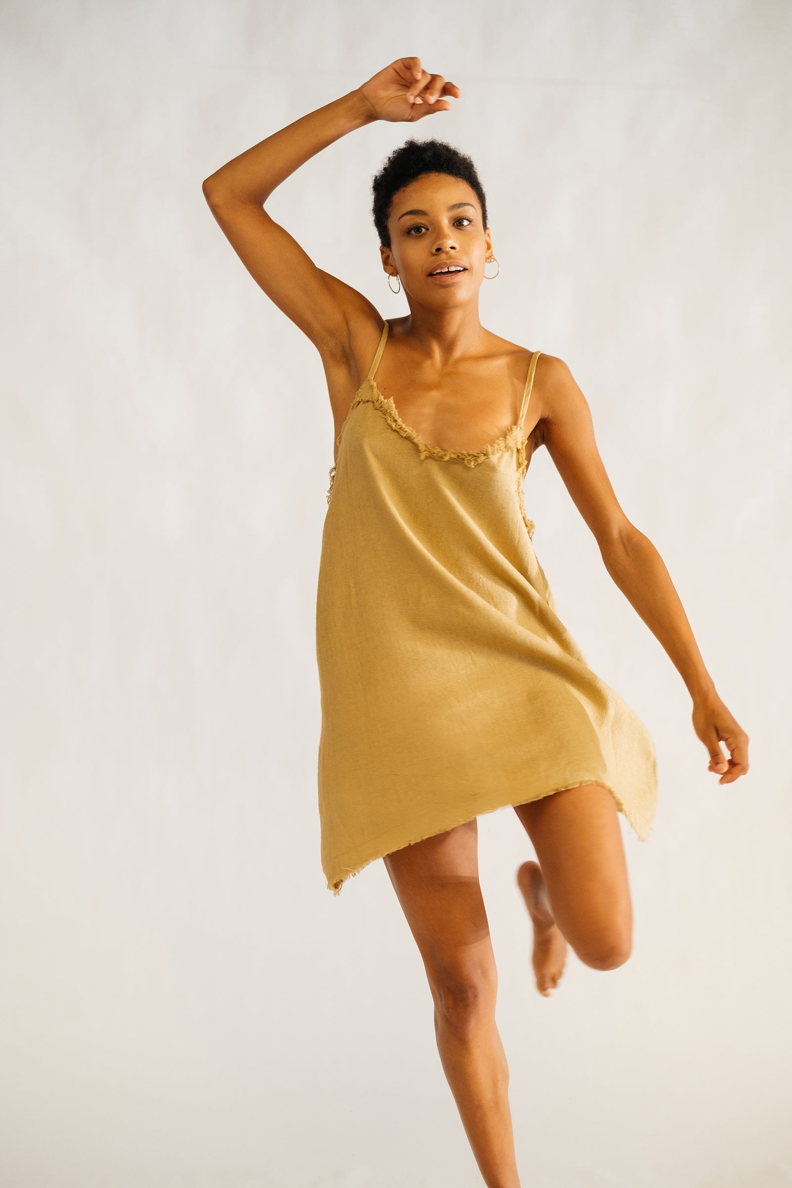 The Silk co. | Lyla Mini Dress | Sustainable Raw Silk Clothing - The Silk Co Byron Bay