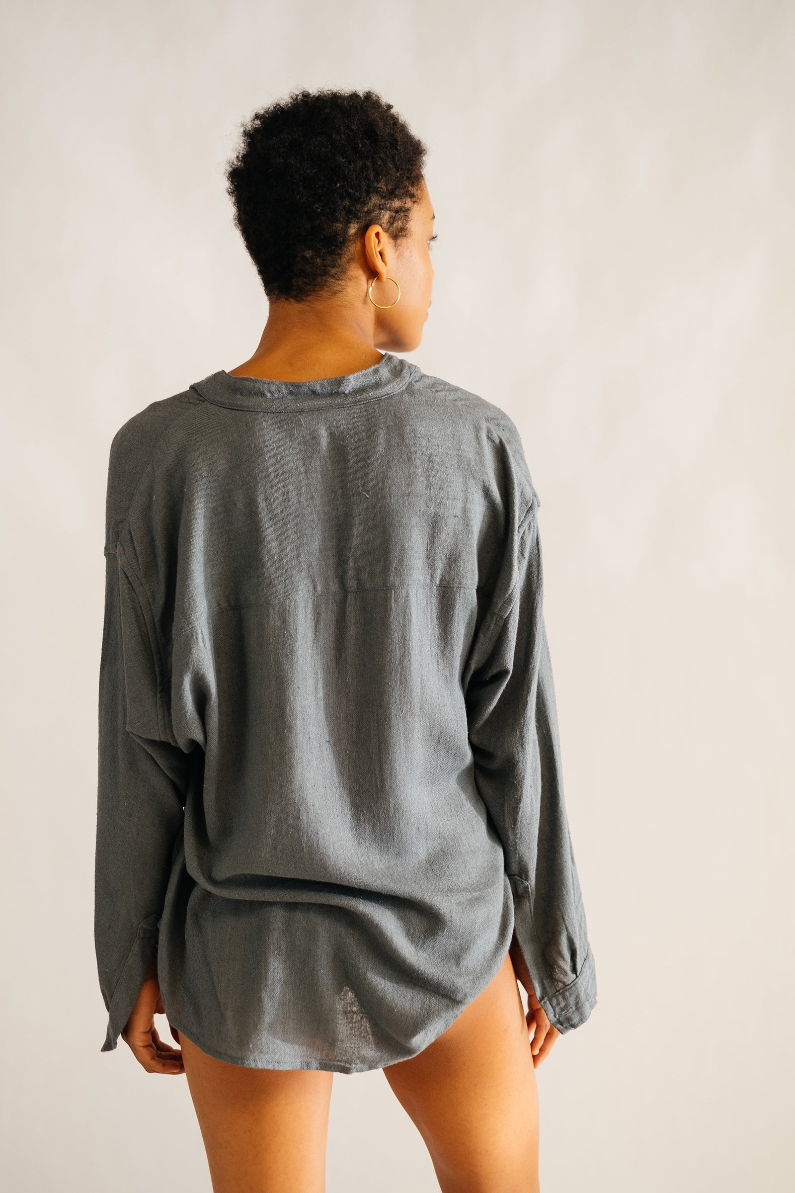 The Silk co. | Rummy Button Shirt| Sustainable Raw Silk Clothing - The Silk Co Byron Bay
