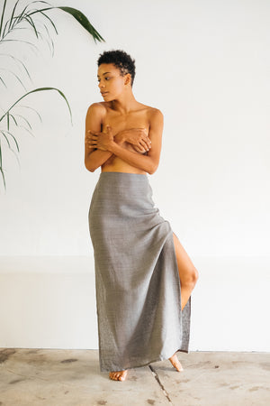 The Silk co. | Tallow Maxi Slip Skirt | Sustainable Raw Silk Clothing - The Silk Co Byron Bay