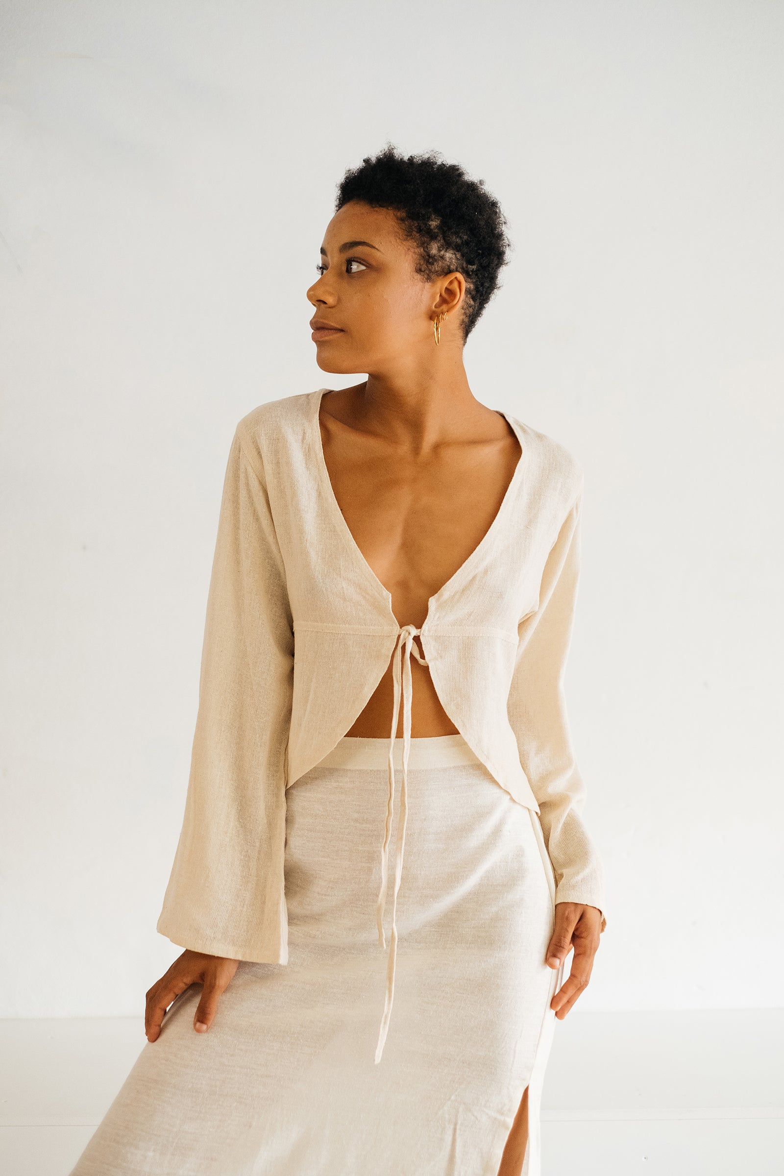 The Silk co. | Raven Crop | Sustainable Raw Silk Clothing - The Silk Co Byron Bay