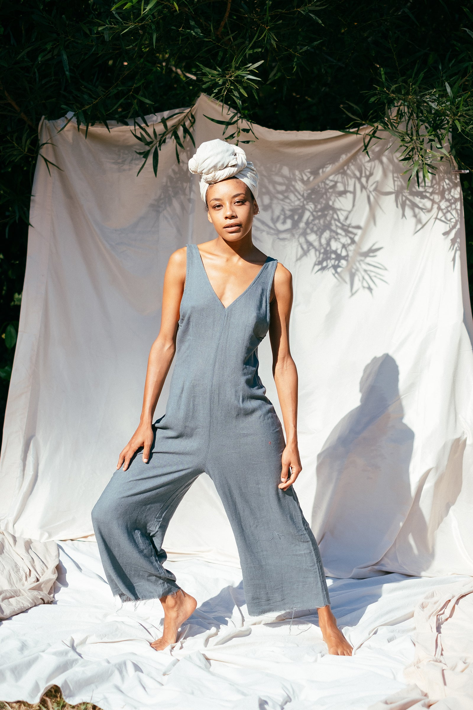 Willow Jumpsuit - The Silk Co Byron Bay