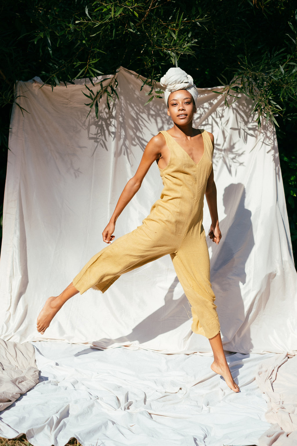 The Silk co. | Willow Jumpsuit | Sustainable Raw Silk Clothing - The Silk Co Byron Bay
