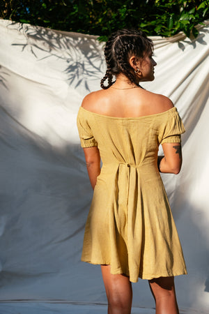 The Silk co. | Shelly Bay Mini Dress | Sustainable Raw Silk Clothing - The Silk Co Byron Bay