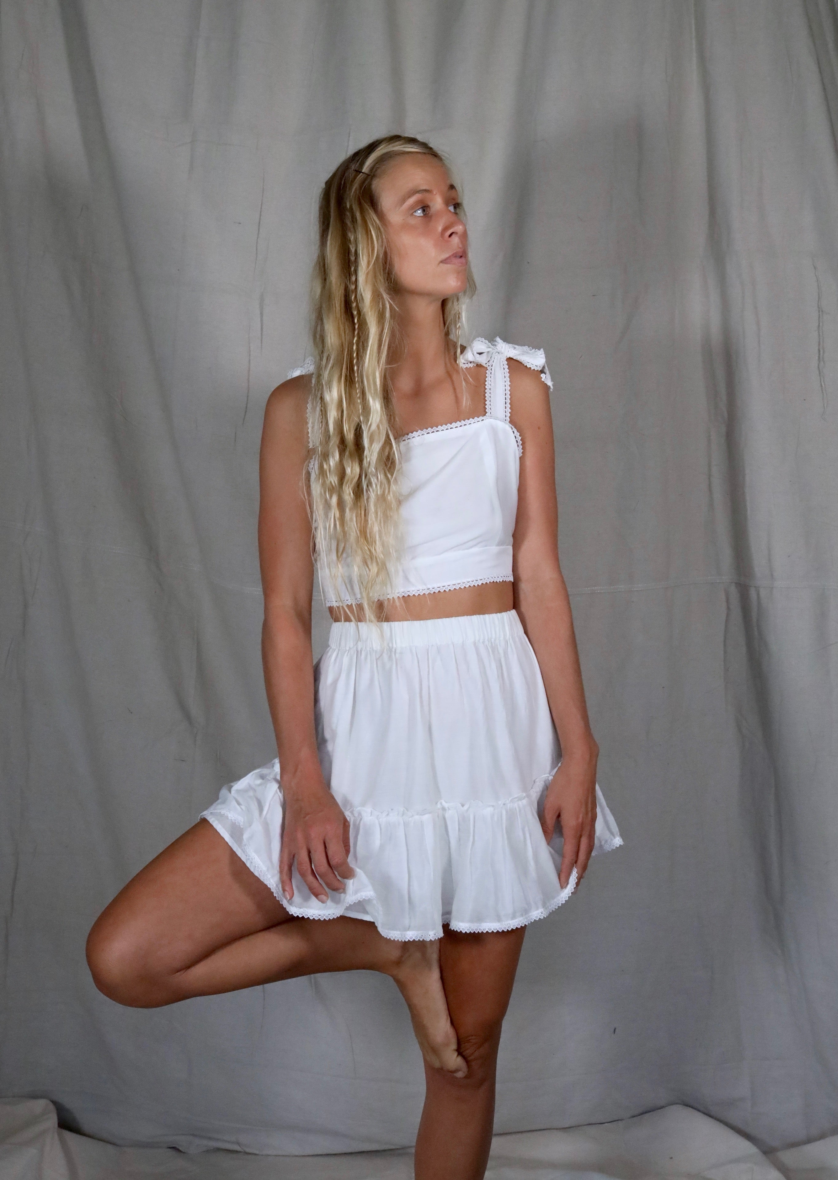 Ivie Mini Skirt - The Silk Co Byron Bay