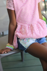 Tea Party Pink Shorts