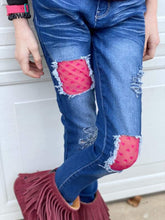 Load image into Gallery viewer, Mesh Hearts Valentine's Jeans