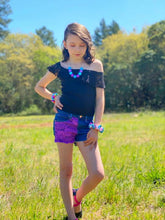 Load image into Gallery viewer, Purple Lace Shorts