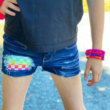 Load image into Gallery viewer, Girls Rainbow Checkers Shorts