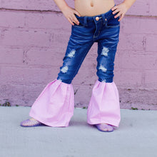 Load image into Gallery viewer, Pink Glitter Bell Bottoms
