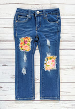 Load image into Gallery viewer, Mustard Floral Jeans