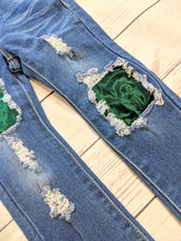 Load image into Gallery viewer, Emerald Velvet Jeans