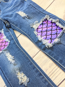 Mermaid Scales Jeans