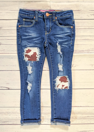 Brown Cow Hide Jeans