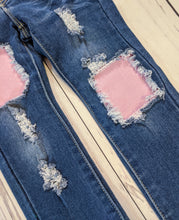 Load image into Gallery viewer, Pink Glitter Jeans