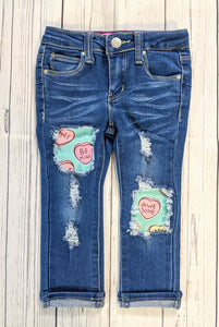Candy Hearts Valentine's Jeans