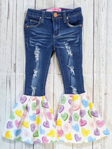 Candy Hearts Bell Bottoms **SOLD OUT