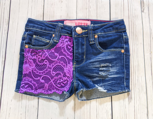 Purple Lace Shorts