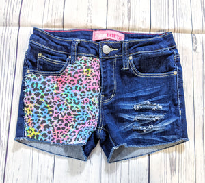 Color Splash Cheetah Shorts