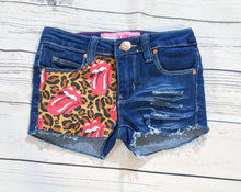 Load image into Gallery viewer, Rolling Stones Leopard Print Shorts