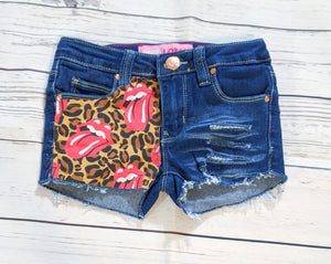 Rolling Stones Leopard Print Shorts