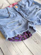 Load image into Gallery viewer, Purple Leopard Print Shorts