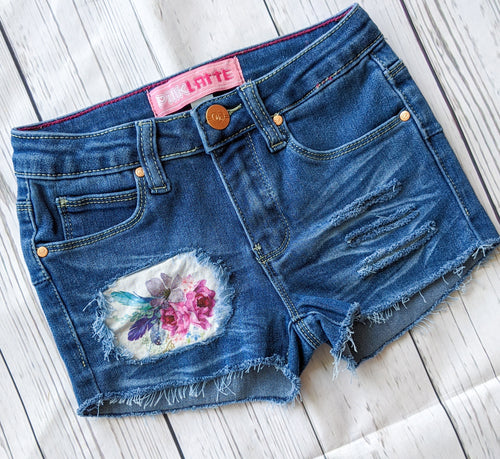 Lilac Floral Shorts