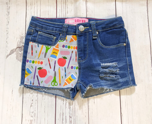 Crayons Light Blue BTS Shorts