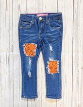 Load image into Gallery viewer, Spooky Orange Pumpkins Jeans