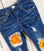 Load image into Gallery viewer, Vibrant Orange Pumpkins Jeans