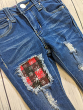 Load image into Gallery viewer, Buffalo Plaid Snowflakes Jeans