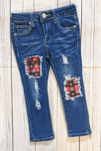 Buffalo Plaid Snowflakes Jeans