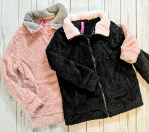 Pink Fleece zip up Jacket