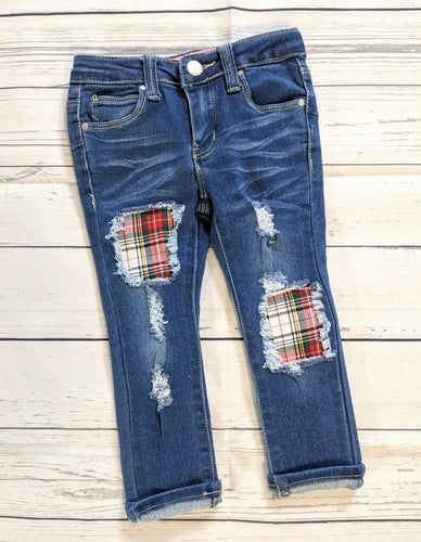 Christmas Plaid Jeans
