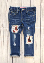 Load image into Gallery viewer, Plaid Trees Jeans