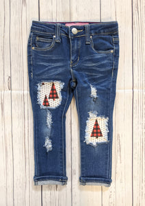 Plaid Trees Jeans